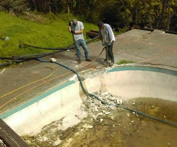 an inground pool removal