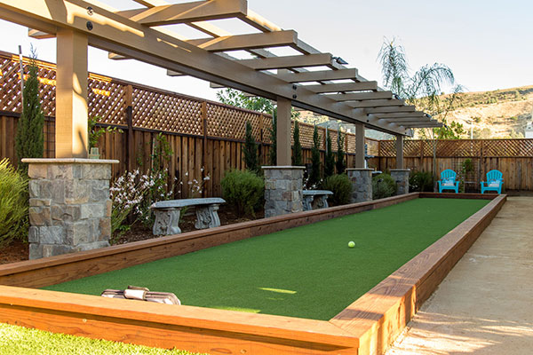 Bocce court installed in Walnut Creek after removing an old swimming pool