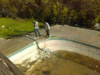 Matt and Jim are working on a Bay Area pool demolition job